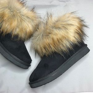 UGG Classic Mini Fox Fur Black #67